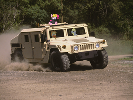 Derpy driving a HMMWV by TubalcainGER