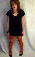 Striped Tights Stock 2. by fallingstarStock