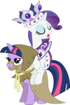 Princess Platinum and Clover the Clever Vector by scrimpeh