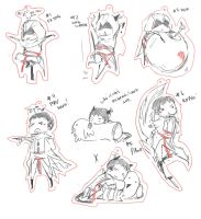 chibi ideas for altair malik by Kittyjohl