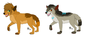 Puppy adoptables by LizzysAdopts
