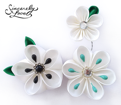 Raindrops Kanzashi by SincerelyLove