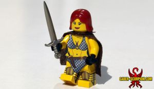Custom LEGO Red Sonja Minifig by Saber-Scorpion