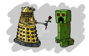 The Creeper and the Dalek fell in love by BeaMaia