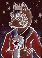 ACEO 001_ A scarf for the King by LepusDiscordia