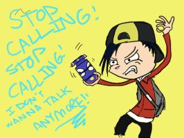 STOP TELEPHONIN' ME by Joey-of-Suburbia