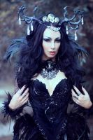 Gothic Fantasy Witch Feathers Costume by Alice-Corsets