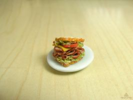 1:12 sandwich from polymer clay by Tristatin