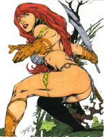 Red Sonja by edbenes colored by rmartin2819