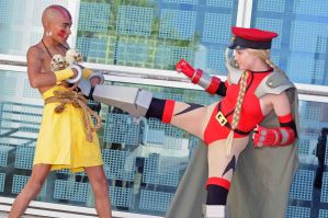 Dhalsim and Cammy White - SF4 by popecerebus
