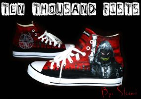 Disturbed Shoes by ghostbomb