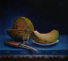 Still life with the melon by marcheba
