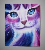 Cat eyes BLUE by Roxo89