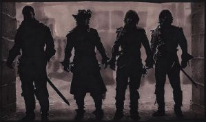 Musketeers in markers by ihni