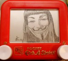V for Vendetta Etch a sketch by pikajane