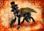 Contex OC steampunk commission by Chickenwhite