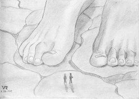 Giantess and two friend boys by VRSeverson
