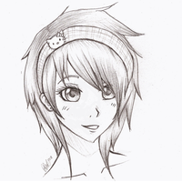 anime girl sketch by mr-Awesomenessist