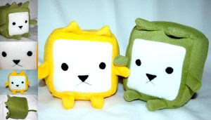Cube Cats by Greencherryplum