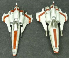 Galactica MkII Vipers by Roguewing