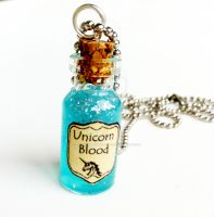 Unicorn Blood Necklace by littlebirdievintage
