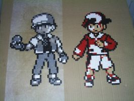 Hama Pokemon RBY GSC Trainers by tony-boi