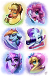 Pony Buttons 2016 by Tsitra360