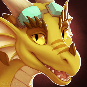 [Commission] Pyro Portrait by Scaleeth