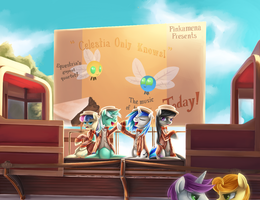Barbershop Pony Quartet by Aurarrius