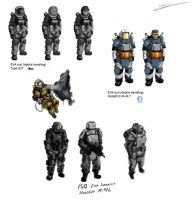 EVA suit concepts by Csp499