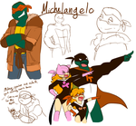 AMNT: Adult Michelangelo Concept Sketches by RouletteSimone