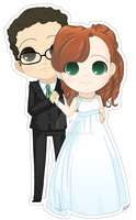 Wedding Chibi Commission Stephanie and Cullen by Kalisama