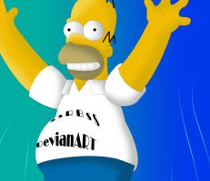 homer is following me by SsRBsS