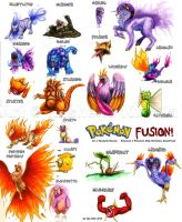Pokemon Fusions by TheDragonofDoom
