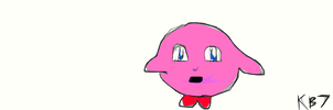 unfinished Wii artwork Kirby by kaitlynb7