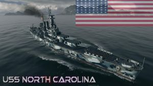 USS North Carolina class Battleship by XLegion-716X