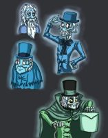 Grim Grinning Ghosts by Creative-Dreamr