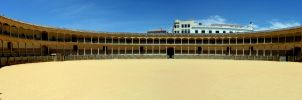 bullfight arena Ronda Spain by gunkl