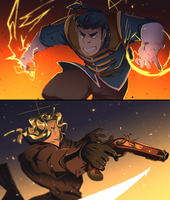 1450: THE SOLDIER AND THE SPY by rienlen