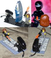 Lego Xenomorph and Ripley ALIENS Custom OOAK by TorresDesigns