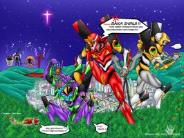 Evangelion in X'mas by V-male