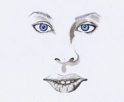 Face with blue eyes by rsandberg