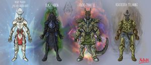 Skyrim Characters lineup by callme-Nobodi