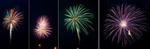 4th of July Fireworks Stock 19 by AreteStock
