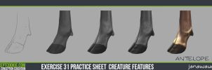 Exercise: Rendering an Antelopes leg by JanaW