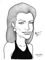 Angelina Jolie caricature by silentsketcher