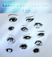Eyes type by ryky