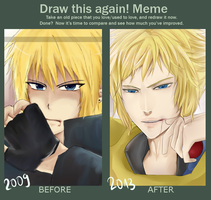 Before and After Meme by michitan