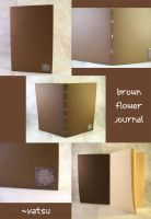blank book - brown flowers by yatsu