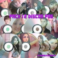 Pack discos PNG by GabrielaLB